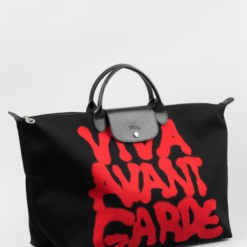 "LONGCHAMP x JEREMY SCOTT ""Viva Avant Garde"" travel bag"
