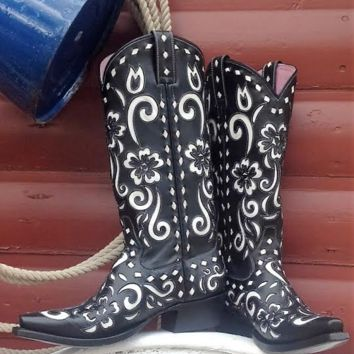 Miss Macie Southern Grace Boots ~ Black