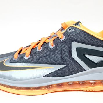 Nike Youth's Lebron XI Low GS Grey Basketball Shoes 644534 004