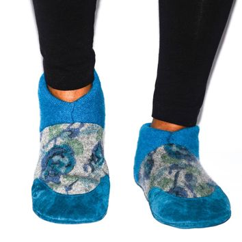 Women Cashmere Slippers, Wool Felted Shoes