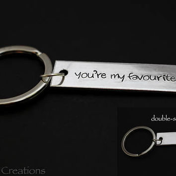 You're My Favorite Keychain with Custom Latitude Longitude Coordinates for Couples or Best Friends, Long Distance Relationship Goals