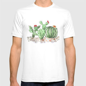 Cactus watercolor illustration T-shirt by Fuzzyfox