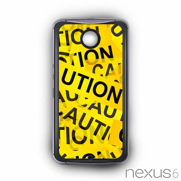 Caution Yellow Tape for Nexus 6 phonecases