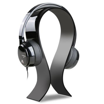 AmoVee Acrylic Headphone Stand Gaming Headset Holder / Hanger, Extra Thick - Black