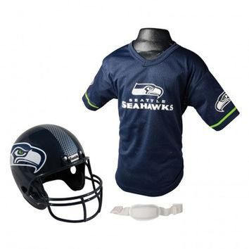 Seattle Seahawks Youth NFL Helmet and Jersey Set