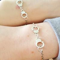 "Friendship bracelet set - ""Partners in Crime"""