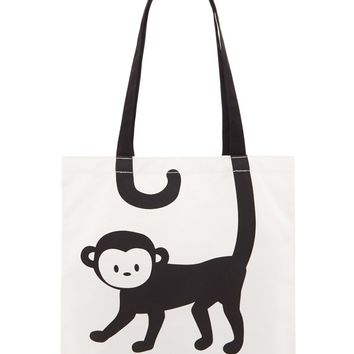 Monkey Graphic Tote Bag