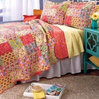 Bedding Set 3 Pc Quilt Sham Comforter Floral Country Reversible Full/Queen/King