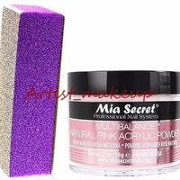 Mia Secret Acrylic Multibalance Nail Powder Size: 2 oz + Mia Sponge File - USA