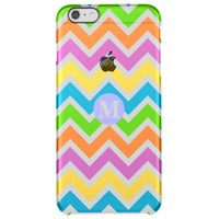Monogram Retro Chevron ZigZag Stripe Pattern Uncommon Clearly™ Deflector iPhone 6 Plus Case