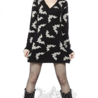 Retro Glam - Sourpuss Batty Sweater Dress
