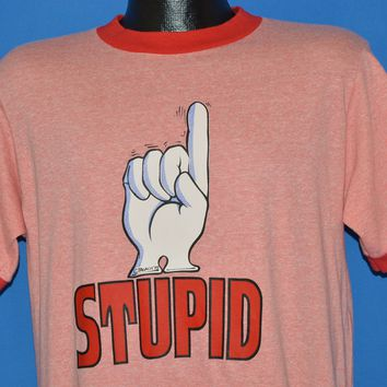 70s Stupid Pointing Hand t-shirt Large