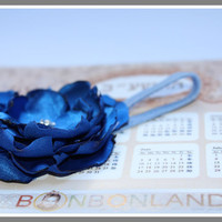 Blue headband Grace and Elegance  photo prop  by bonbonLand