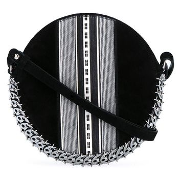 Leather and Suede Chainmail Drum Bag - PACO RABANNE