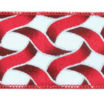 6  Christmas Ribbons - Intertwining Stripes