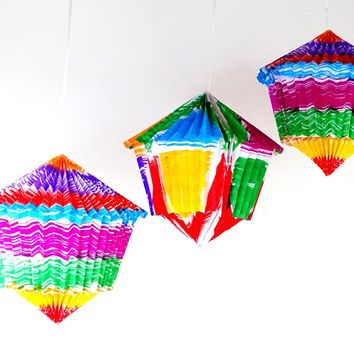 3 Pack Mexican Lanterns Paper, Cinco de Mayo Fiesta Decoration, Faroles FAROLES01