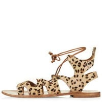 FIG Leopard Lace-Up Sandals - True Leopard