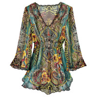 Emerald Garden Top - Women's Clothing & Symbolic Jewelry – Sexy, Fantasy, Romantic Fashions