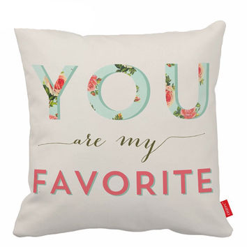 Quote Cushion Covers Flower Decorative Pillows Letter Pillow Covers Pillow Cases Throw Pillow Covers 18X18