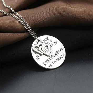 Sale Between Grandmother Granddaughter Pendants Necklaces Long Chain Double Heart Family Jewelry Gift
