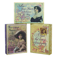 VINTAGE CANVAS OF LOVE 3 ASSORTED