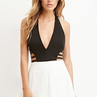 Laddered-Side Halter Bodysuit