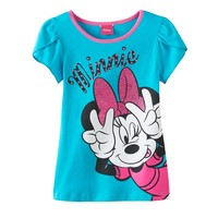 Disney's Minnie Mouse Funny Face Tee - Girls