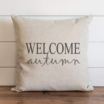 Fall Pillow Cover // Welcome Autumn