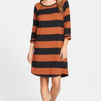 Women's Caslon Stripe Knit Shift Dress,