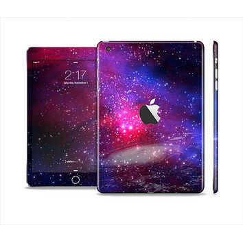 The Vivid Pink Galaxy Lights Skin Set for the Apple iPad Mini 4