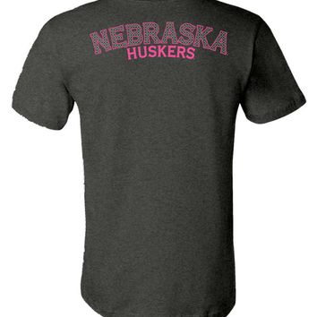 Official NCAA University of Nebraska Cornhuskers Lincoln UNL Huskers NU Women's Unisex T-Shirt - 35NB-2