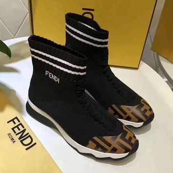 Fendi Women Fashion Casual Socks Shoes