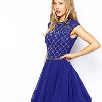 Chi Chi London Embellished Prom Dress with Beaded Bodice