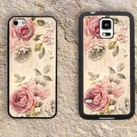 Chic Pink Victorian Roses iPhone Case-Beautiful floral Pattern iPhone 5/5S Case,iPhone 4/4S Case,iPhone 5c Cases,Iphone 6 case,iPhone 6 plus cases,Samsung Galaxy S3/S4/S5-228