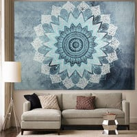 Indian Bohemian Mandala Tapestry Wall Hanging Sandy Beach Picnic Throw Rug Blanket Camping Tent Travel Mattress Sleeping Pad SY2
