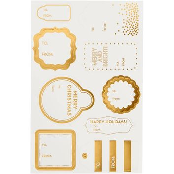 Gold Foil Die-Cut Holiday Hang Tags