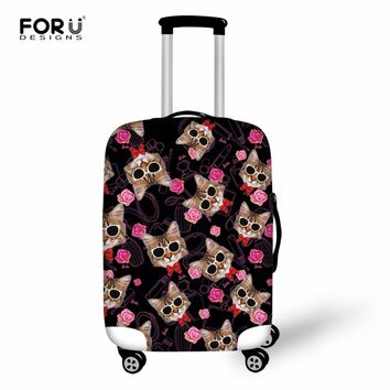 FORUDESIGNS Kawaii 3D Cat Animal Luggage Protective Rain Covers Elastic Thicken Women Suitcase Cover For 18-30 Inch Trolley Case