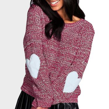 Heart On My Sleeve Light Knitted Sweater