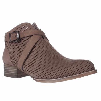 Vince Camuto Casha Perforated Ankle Booties, Smoke Taupe, 8.5 US / 38.5 EU