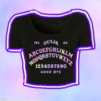 Ouija Board Crop Top Pastel Goth Grunge Tumblr
