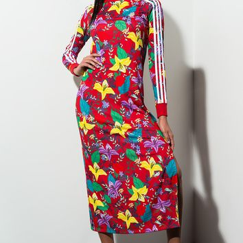 bc38aa4d7 adidas Graphic Printed Long Dress in Multco