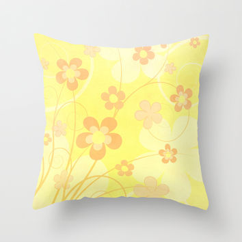 Summer floral Throw Pillow by EDrawings38