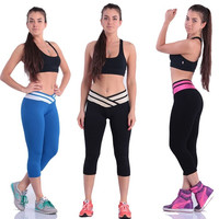 Summer Women sport pants  fitness  leggings patchwork Elastic Comfortable Trousers Casual Soft Yoga Pants only = 1932256836