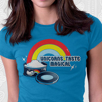 Magically Delicious - Funny Slogan Shirt. 100% Cotton. Mens, womens and kids sizes.