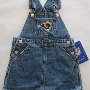 Los Angeles Rams Reebok Toddler Jean Skirt Jumper Size 4T
