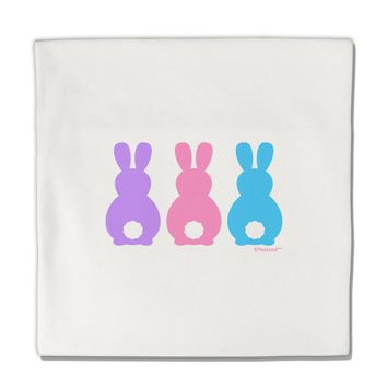 """Three Easter Bunnies - Pastels Micro Fleece 14""""x14"""" Pillow Sham by TooLoud"""