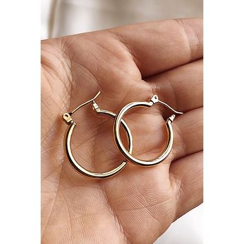 Frida Small Gold Hoops