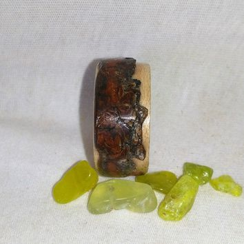 Willow Bark Live Edge and Maple Bentwood Ring