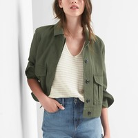 Crop utility jacket | Gap