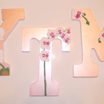 Decorative Letters/Initials/Wood letters/hanging letters/ wall letters/Photo prop/Bedroom Decor